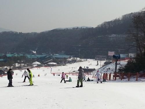 京畿道昆池岩滑雪記