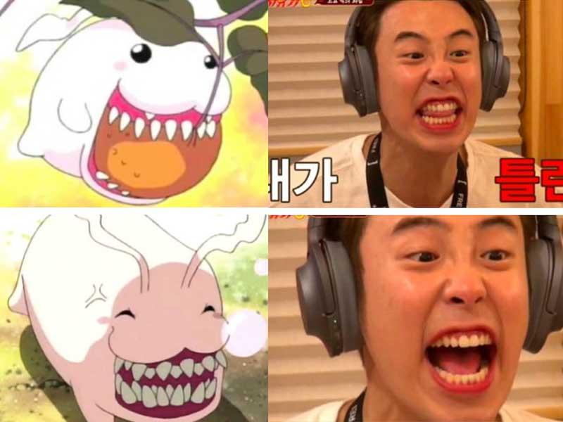 有粉絲笑稱見到P.O露出全部牙齒、樣子十足《寵物小精靈》中的迪哥獸