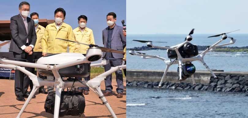 創意體貼:韓國濟州島用無人機送口罩到外島居民