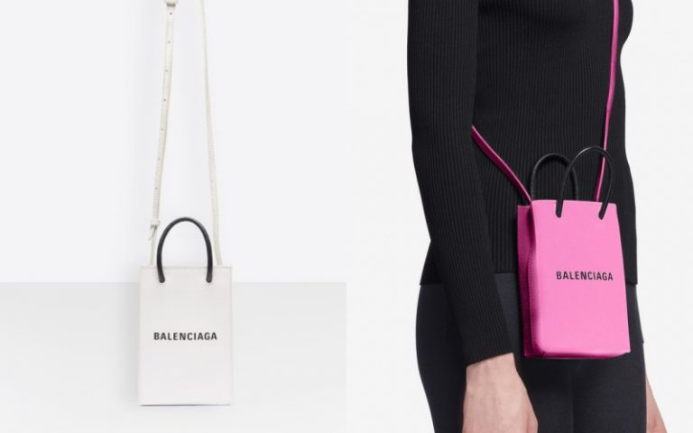 balenciaga phone holder bag