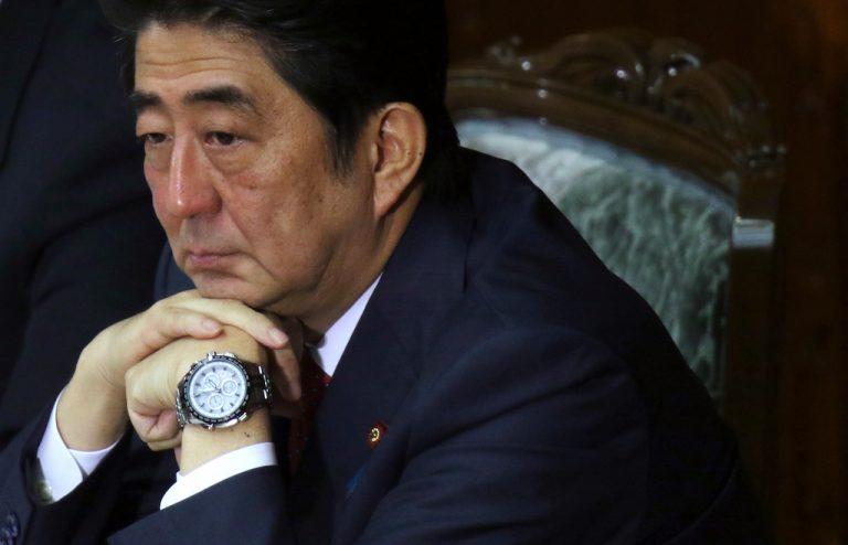 日本首相安倍晉三 戴 SEIKO