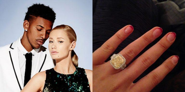 Iggy Azalea的訂婚戒指是來自NBA球員男友的8.15克拉黃鑽
